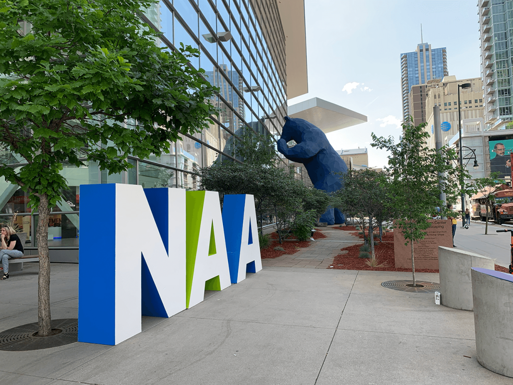 Outside the Denver Convention Center at NAA Apartmentalize 2019